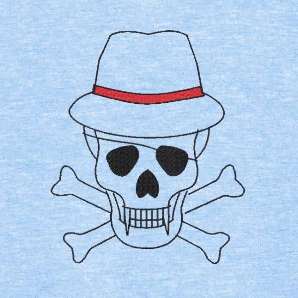 crâne avec un chapeau 2