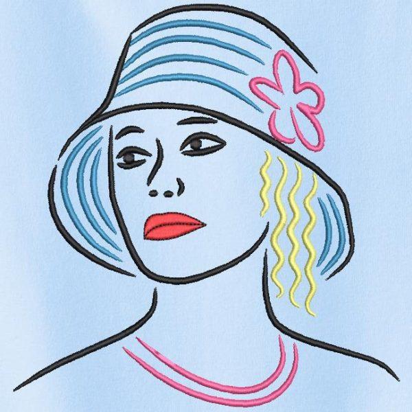 élégante avec un chapeau 3