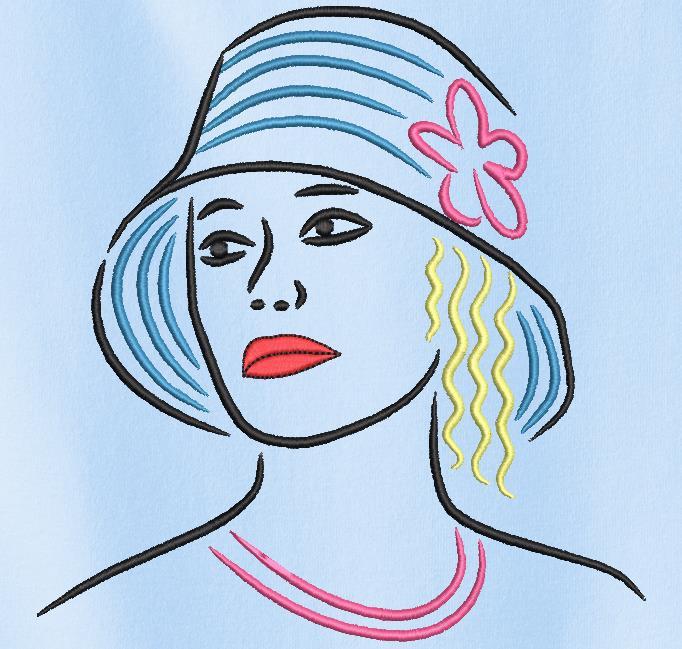 elegante con un sombrero 3