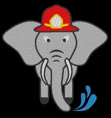 petit éléphant pompier