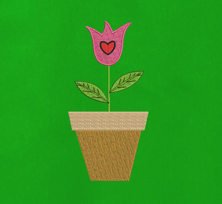 tulipe dans un pot