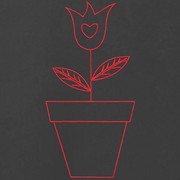 tulipe redwork