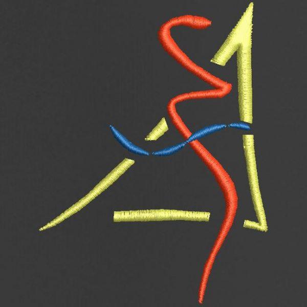 رقمنة شعار آلة التطريز.