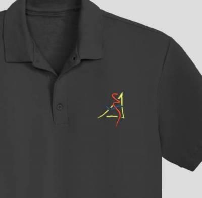 Digitalizzazione del logo macchina ricamo design.