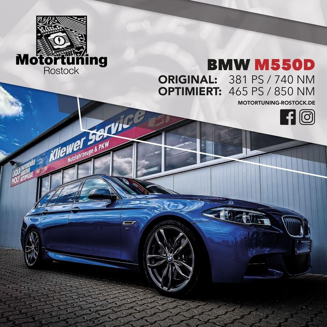 Chiptuning-Motortuning Rostock, Kennfeldoptimierung, Leistungssteigerung, BMW M550d, Ansicht schräg vorn, grau, Originalleistung: 381 PS,optimierte Leistung: 465 PS
