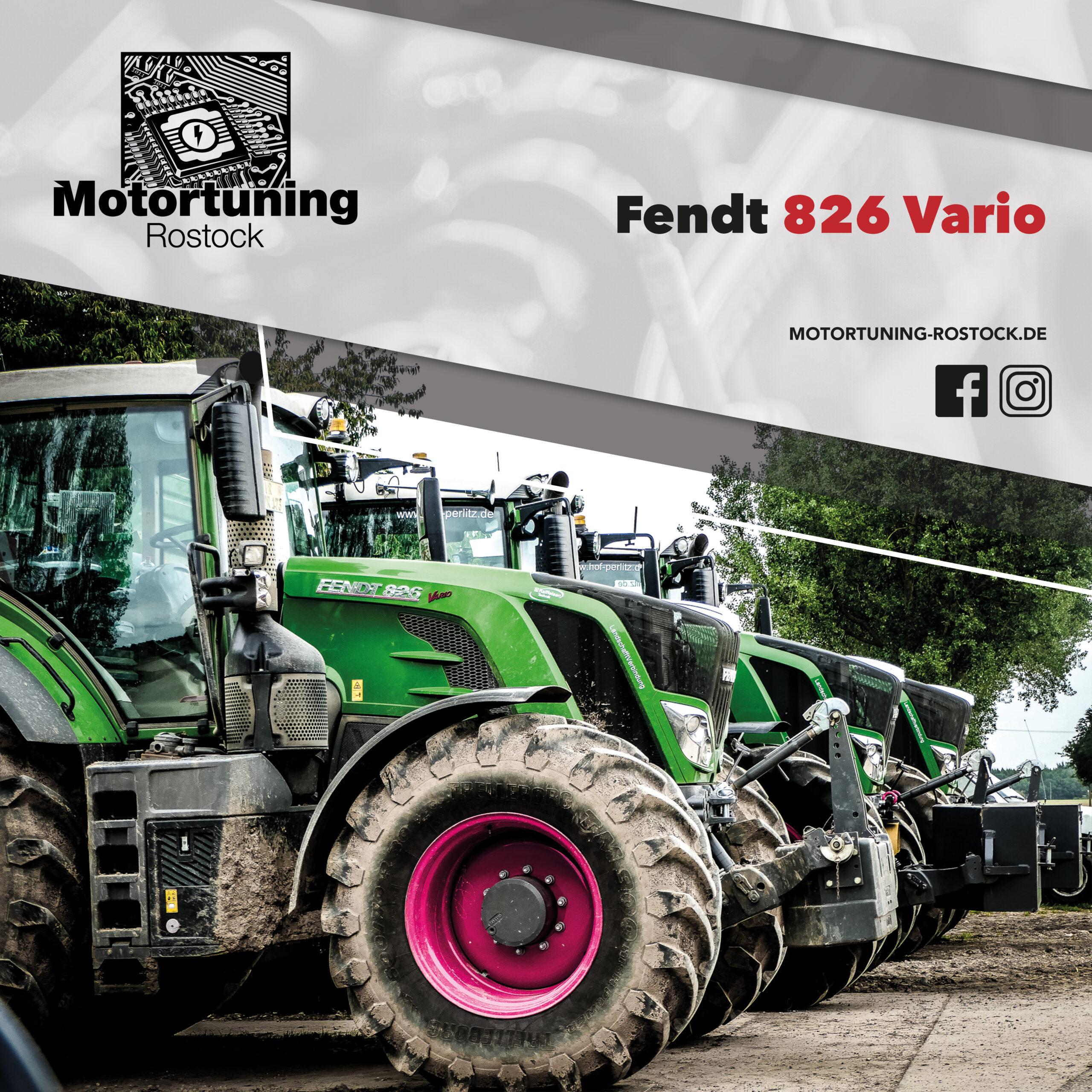 Chiptuning-Motortuning Rostock, Kennfeldoptimierung, Leistungssteigerung, Fendt Vario 826, Ansicht schräg vorn, grün, Originalleistung: PS,optimierte Leistung: