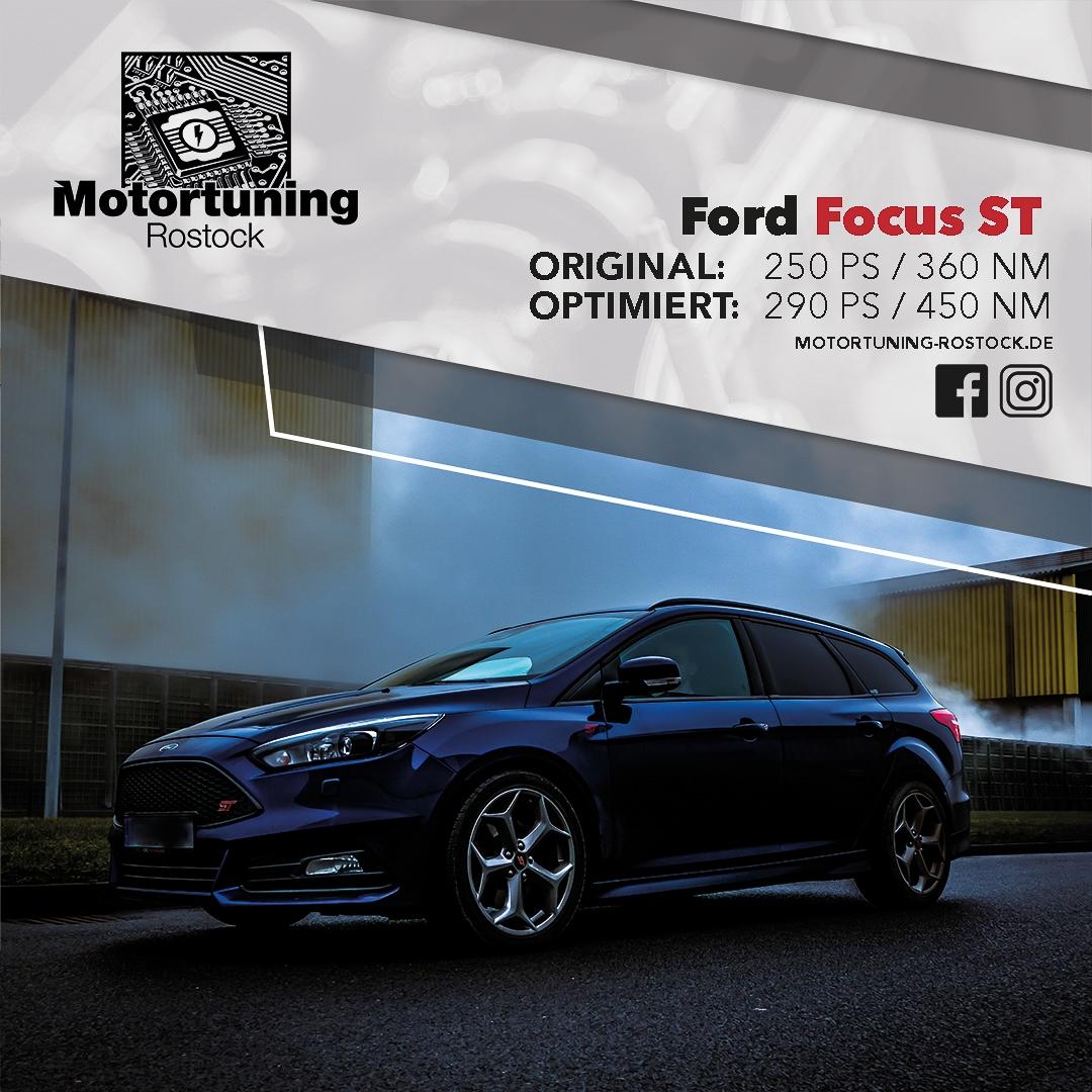 Chiptuning Rostock - Schrägvornansicht Ford Focus ST von 250PS auf 290PS