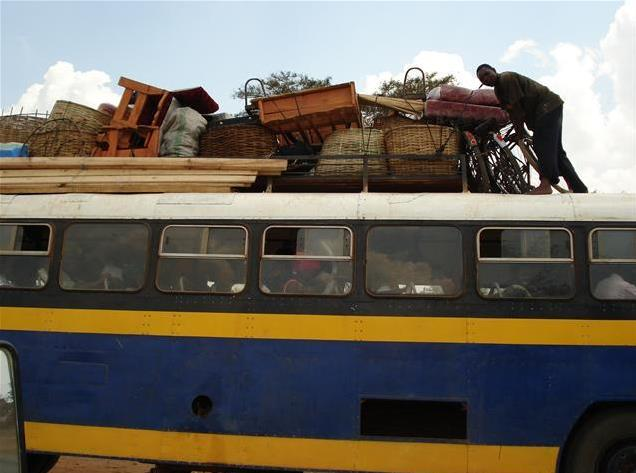 Bus with load Copperbelt Zambia, photo Linda Fred