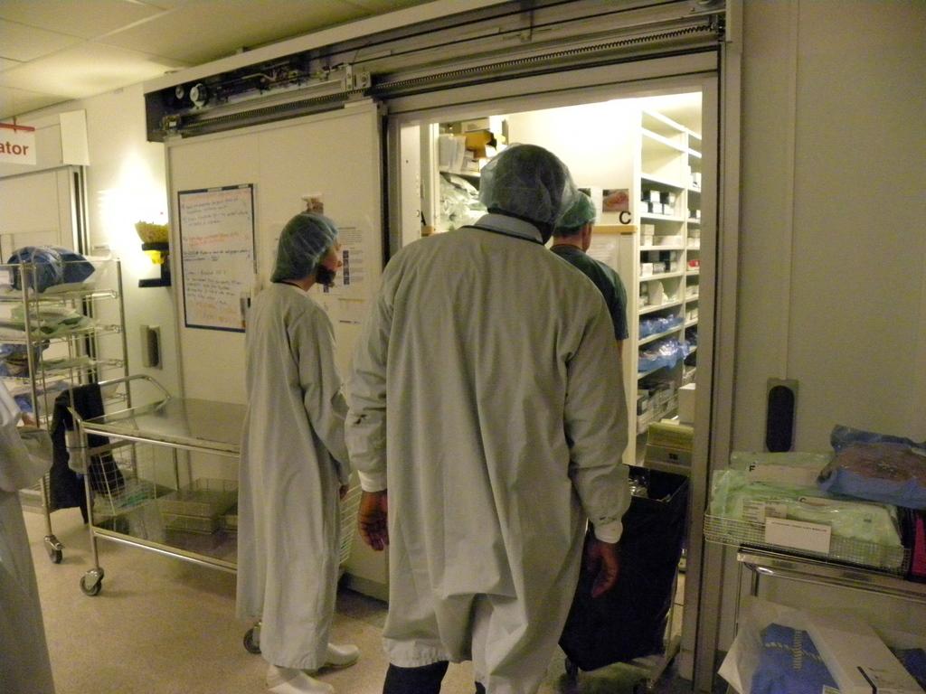 Southern Alvsborg Hospital Operation tour Nurse Ulf Lewin Mr Musaka and Almås students