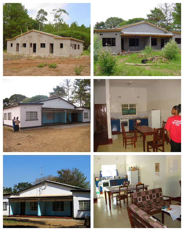 MBA Mpongwe Zambia New Guest House being built, thanks to Friends of Mpongwe Sweden