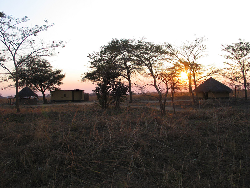 Sunset over Mpongwe neighbors of Mpongwe Mission area, Photo Copyright Kathleen Paulsson