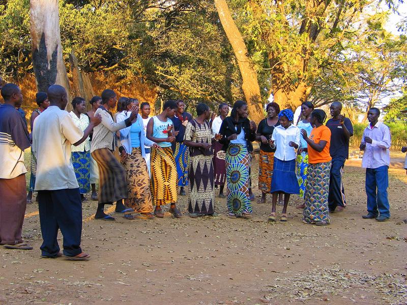 Mpongwe Baptist Church Youth Choir Practice