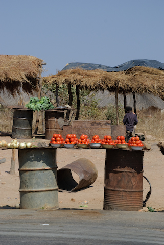 Roadside market vegitable stand, Copperbelt Zambia Photo Copyright Matt Roe
