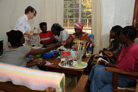 MBA Mpongwe Zambia Women Skill building Copyright Matt Roe August 2008