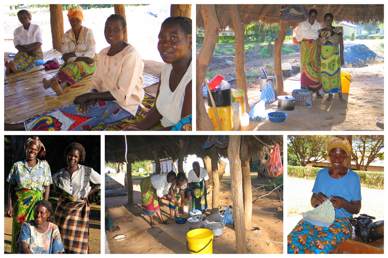 MBA women cooking for discipleship students