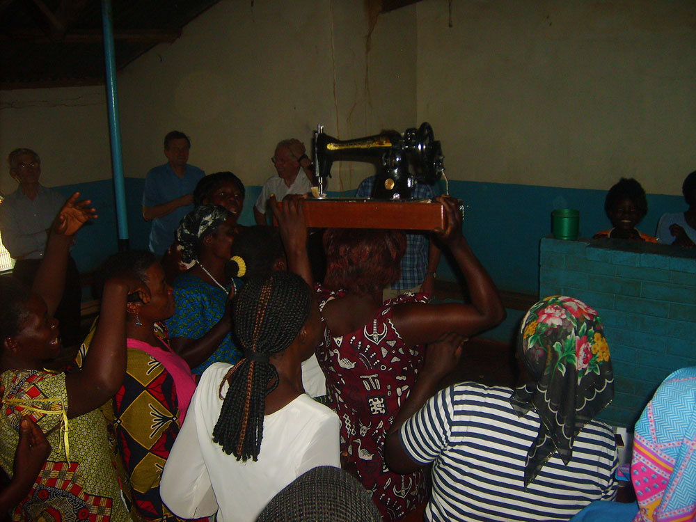 Womens Group celebration at Chitaba for Sewing Machine