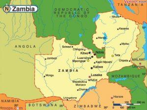 Zambia Map with Mpongwe