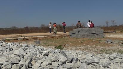 Foundation of school building - august 2017, Mweloushi