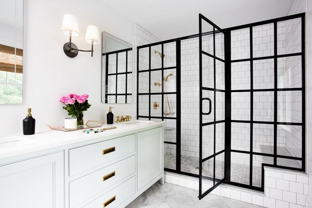 Black framed shower