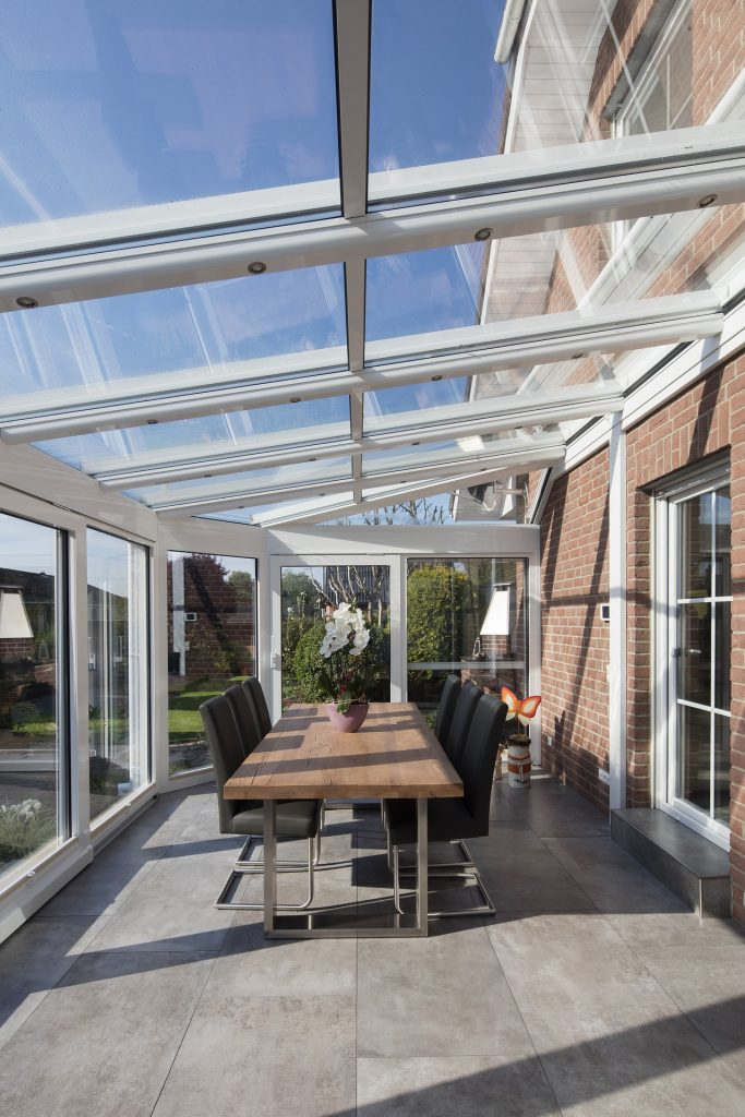 What are the benefits of glass house extension?