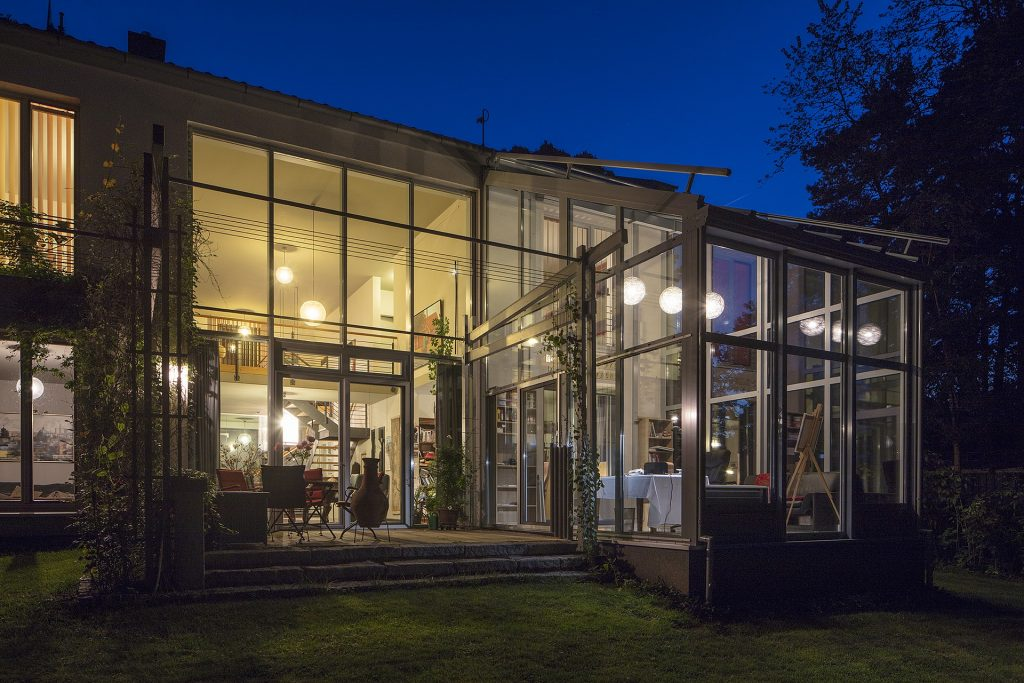 glass house extension in london