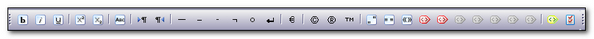 QuickInsert toolbar