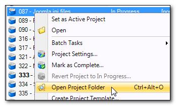 Open Project Folder