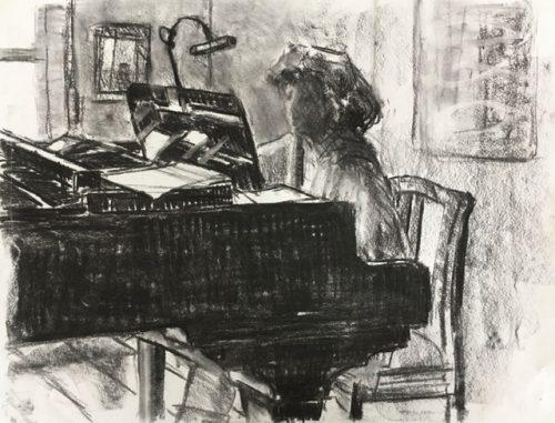 Tekening van Rita Hijmans door Jaap Binnema