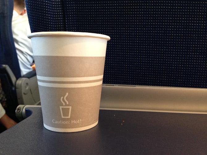 Og nød kaffe ombord