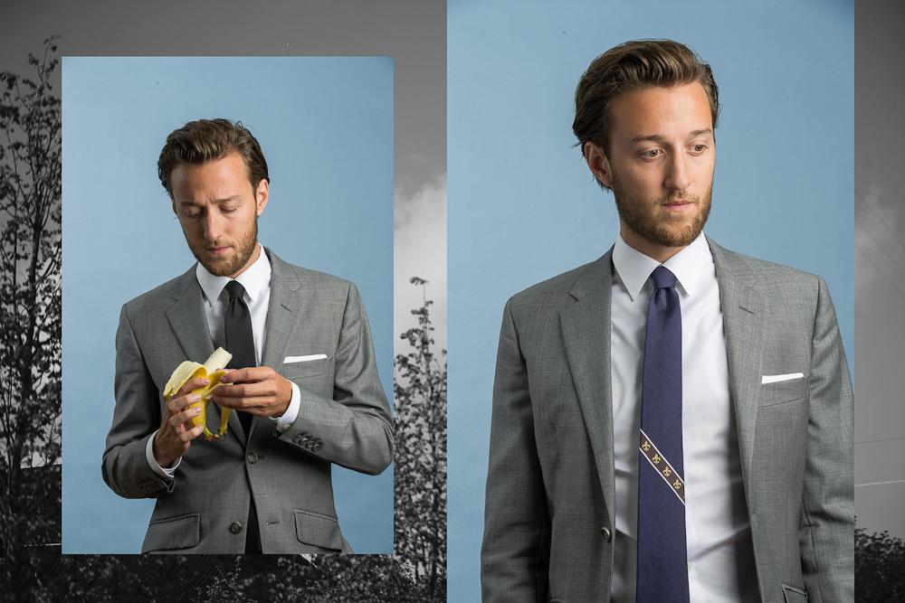 Esben med banan og slips.