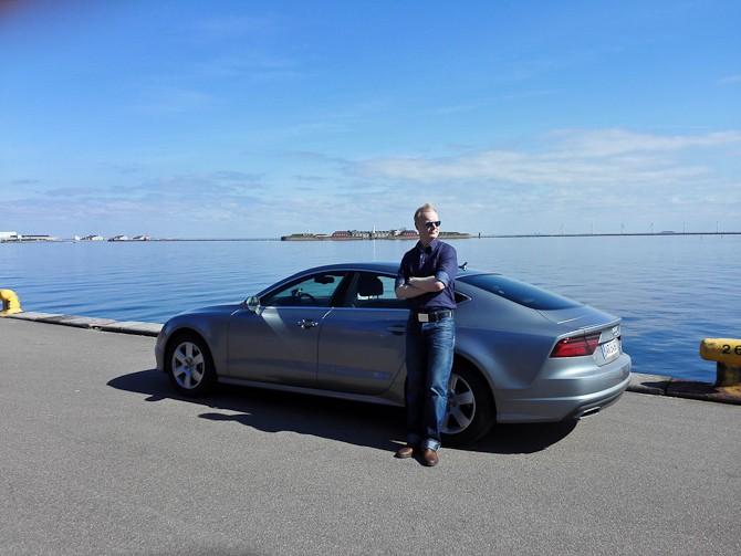 Dennis Andersen, en Audi A7 og flot vejr