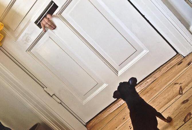Der kom friske forsyninger til døren....