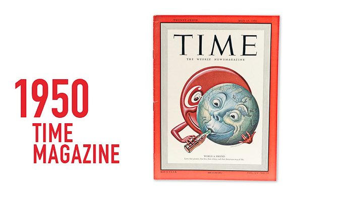"""I 1950 kom """"brandet"""" på forsiden af TIME Magazine som det første kommercielle mærke nogensinde."""