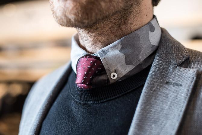 Skjorte fra NN07 og slips fra Lanvin samt strik fra Filippa K