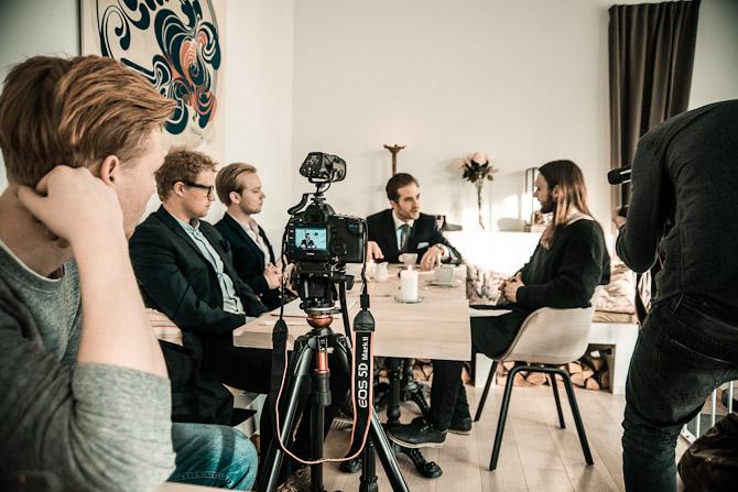 Der samtales og optages. I dag får du det endelige resultat i form af videoen...Foto: Jacob Jorp Hansen