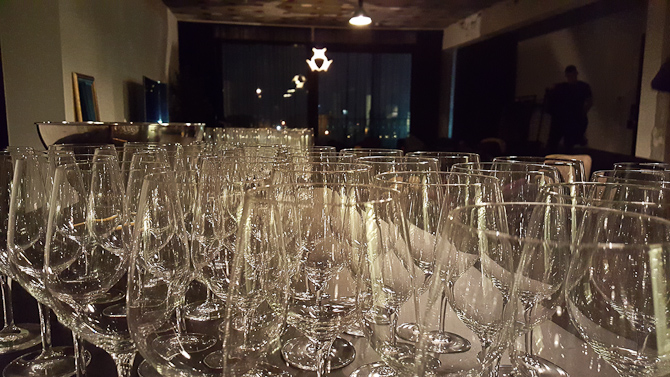 Line-up af glas