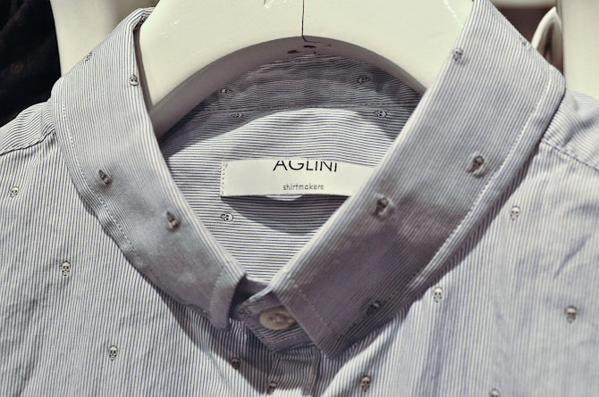 Detalje fra Aglini skjorte