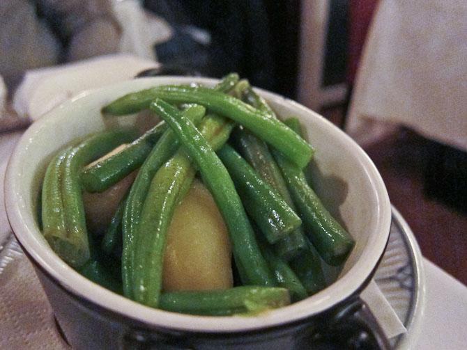 Grønt og kartofler