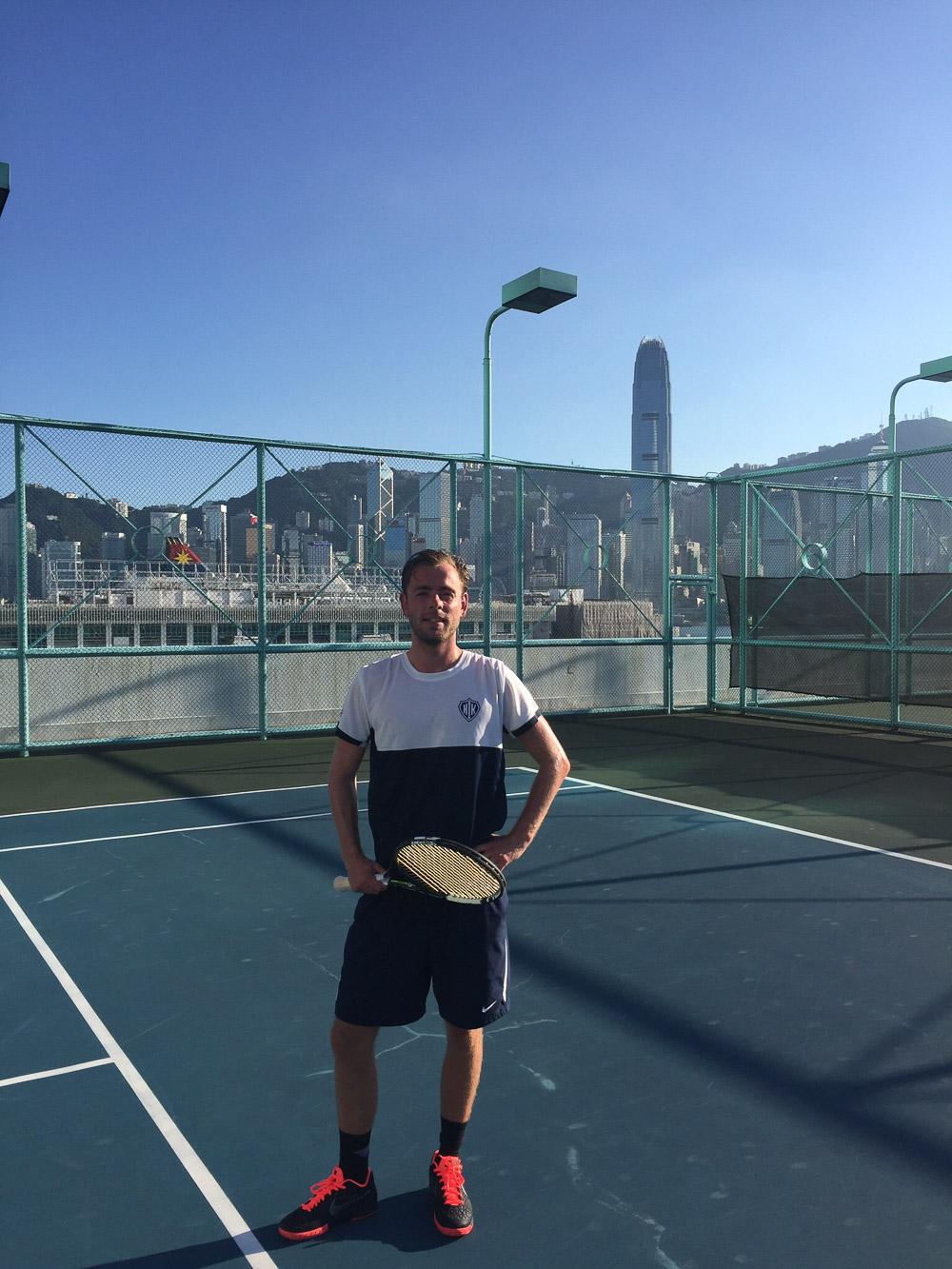 Fra telefonen: Tennis i Hong Kong