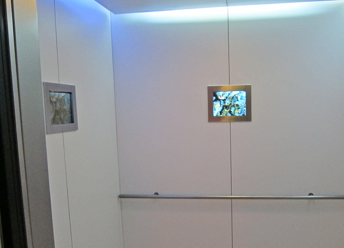 Flimmer til etage-rejseriet