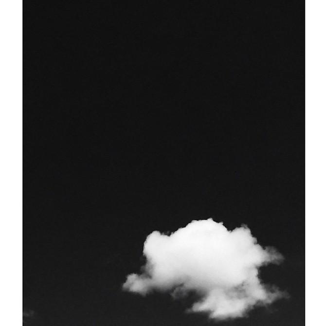 Ensom sky