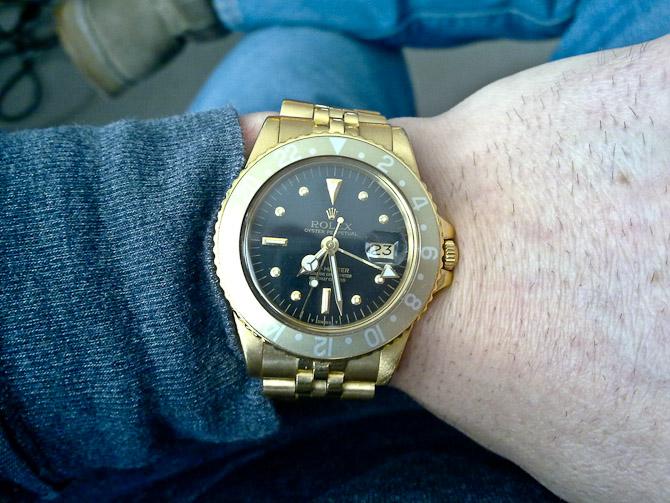 Jon med en svært lækker og patineret Rolex GMT