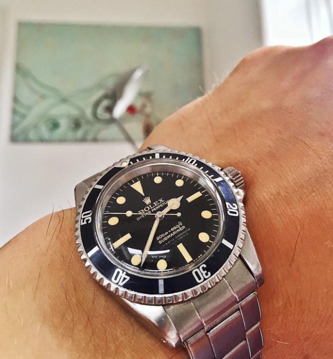 Keld med en Rolex Submariner ref. 5512 gloss-gilt Bart Simpson skive