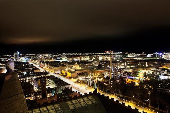Hovedstaden. Set fra oven.