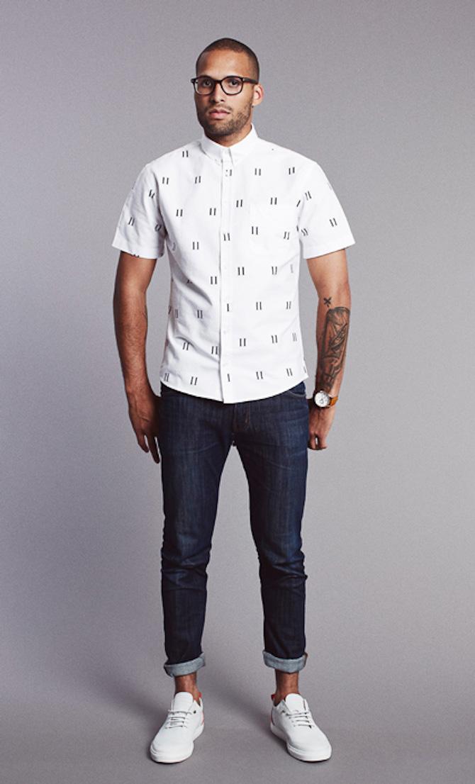 Les Deux shirt Henry allover print 749kr