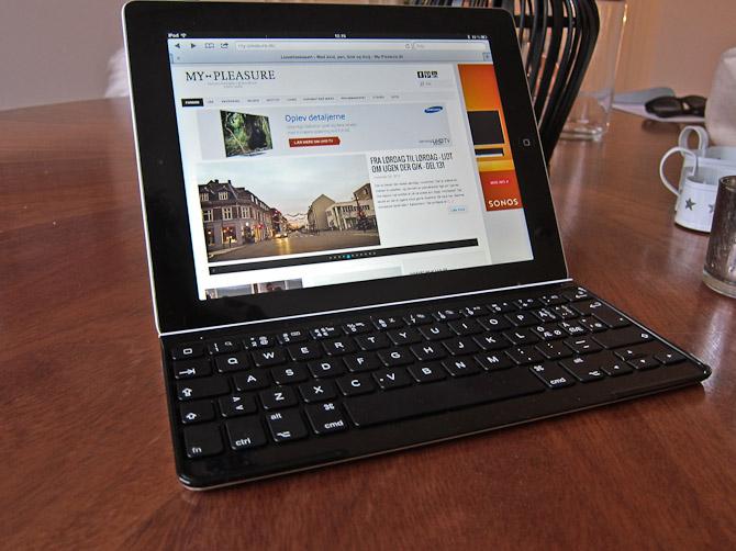 Således ser tastaturet ud i brug...