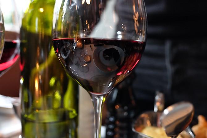 Et glas rødvin