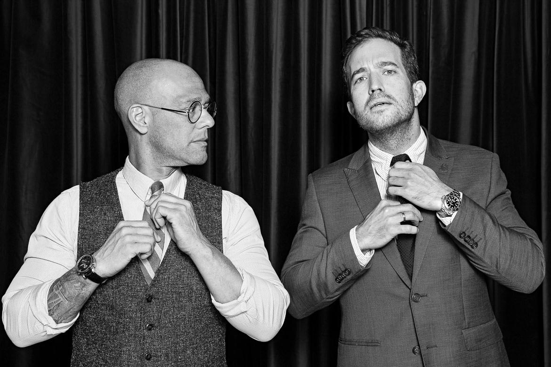 mænd med slips