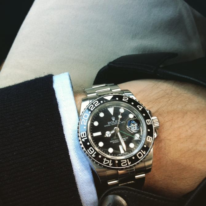 Martin Olsen med Rolex GMT