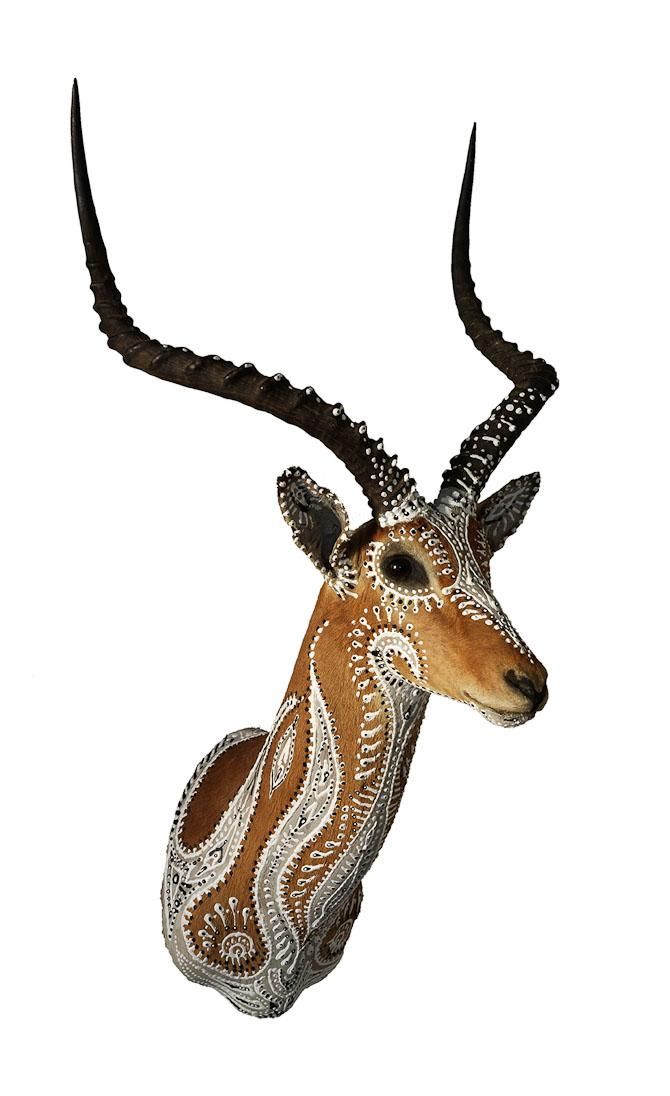 En bemalet impala